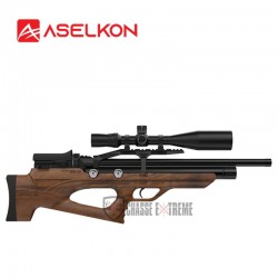 Carabine-ASELKON-PCP-MX10-Wood-Régulateur-Jet-Black-cal. 5.5 19j