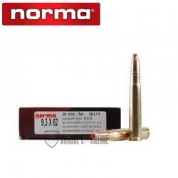 20 Munitions-NORMA-Cal 9.3x62- 285 Gr-Pointe-Plastique