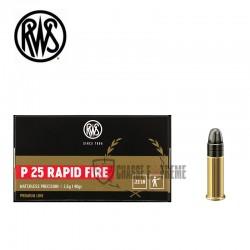 Munitions-RWS-calibre-22-Lr-40-gr-P25 RAPID-FIRE