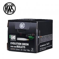 Ogives-RWS-calibre-7.62-mm-139-grains-EVO Green