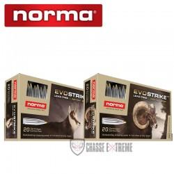 20 Munitions-NORMA-Ctg-cal 6.5 Cr 93gr-Evostrike