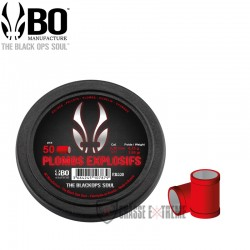 Plombs-Explosif-the Black Ops Soul a Tète-Plate-cal 4,5 mm-Rouge