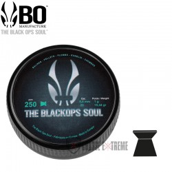 250-Plombs-the Black Ops Soul-a-Tête -Plate-cal 5.5 mm