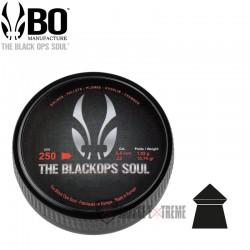 250-Plombs-the Black Ops Soul-à-Tête -Pointue-cal 5.5 mm
