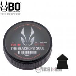 500-Plombs-the Black Ops Soul-à-Tête-Pointue-cal 4.5 mm